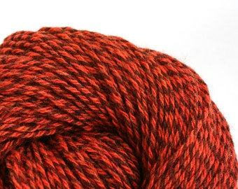 Rockwell Hand Dyed DK weight Wool 280 yds 4oz Paprika