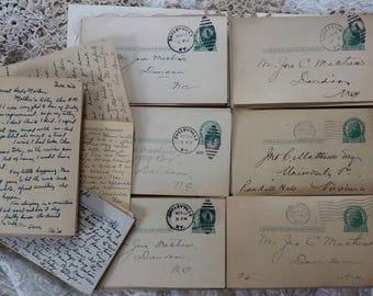 One Dozen Vintage Postcards..1927..1929..1933..
