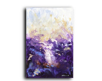 Final Sale Original Painting Deep Gallery Canvas Purple Art, Acrylic on Canvas, large Canvas, Abstract, Contemporary, Modern