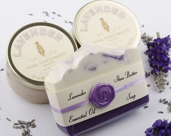 Lavender Spa Gift Set  - Bath And Beauty Set - All Natural - Gift For Her - Mothers Day Gift - Valentines Day Gift