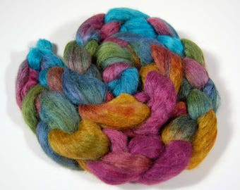 Silver Alpaca and Silk blend (70/30) dyed in wonderful bright colors- FIBER 41