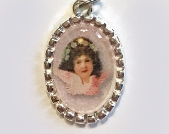 Tiny Charm Valentine's Day Angel Vintage Image