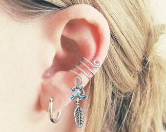 Dreamcatcher Ear Cuff - Silver