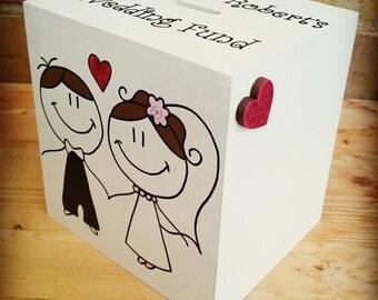 Bride and Groom Wedding Fund Money Box