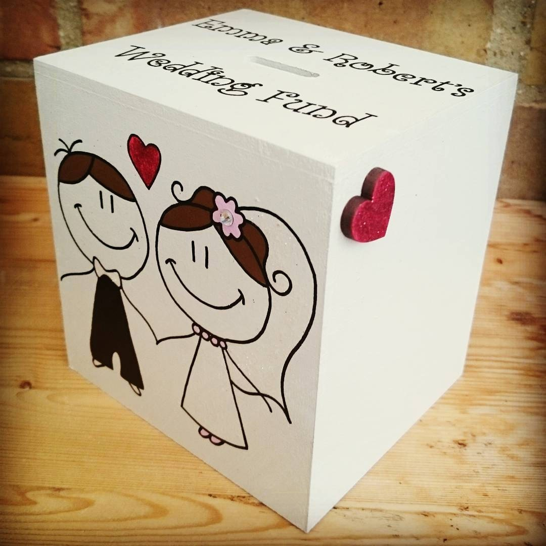 Bride And Groom Wedding Fund Money Box