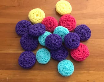 Dish Scrubbers Nylon Dish Pan Scrubbies Double Sided Scratchy Ones