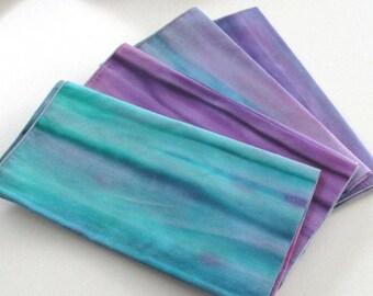 """Napkins,dinner size napkins,18""""x18"""" approx.,handmade napkins,batik cotton napkins,dining table decor,sewn cotton napkins,batik fabric,purple"""