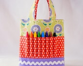 Crayon Tote • Crayon Bag • Coloring Bag • Art Tote • Crayon Holder • Crayon Roll • Flower Girl • Busy Bag • ARTOTE MINI • Cozy Posie