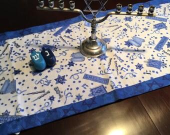 Jewish Holidays Table Runner reversible Chanukah Hanukkah