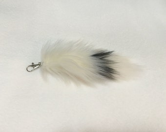 MINI FOX TAIL | Keychain | Belfry Costume Creations | Handmade Faux Fake Fur Furry Accessory Accessories Purses Bags Backpacks Kitsune