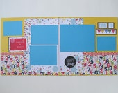 Time to Party Premade or  DIY Kit,12x12 Scrapbook Layout,  Scrapbook Page Kit