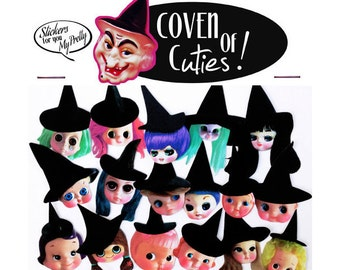 witch doll stickers cute big eye dolly girls boopsiedaisy sticky poos