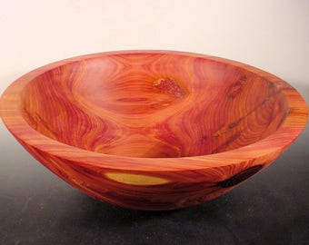 Texas Cedar Wood Bowl Turned Wooden Bowl Number 6548 by Bryan Nelson