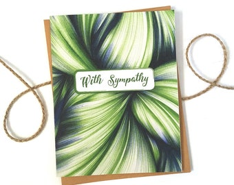 Sympathy Card - Condolences- Modern Sympathy Card -Sympathy Gift - Memorial Card - Funeral Card - Rememberance Card - Bereavement Card