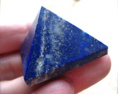 reserved for Marcia Lapis Lazuli Pyramid Stone - Semiprecious gemstone - 31mm - Pocket Stone
