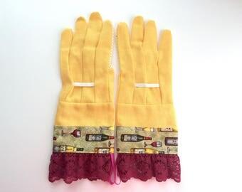 Designer Garden Gloves - Wine and Lace