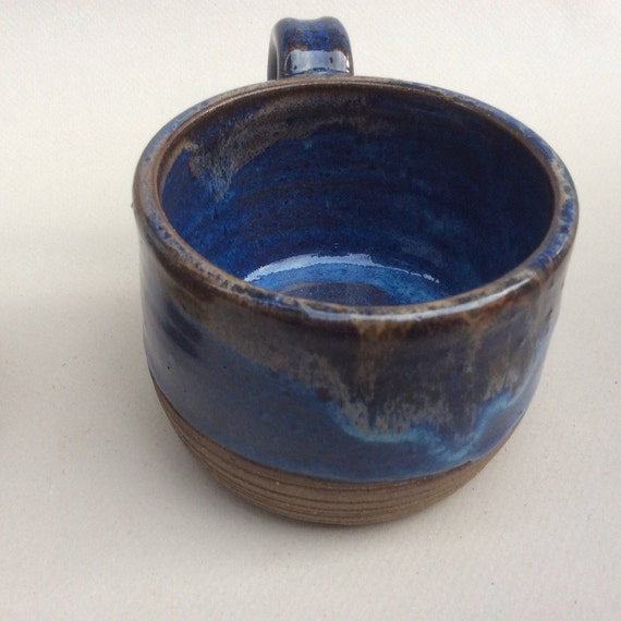 MiDNIGHT blue and black handmade mug,ceramic, pottery, coffee mug, tea mug, ready to ship, ceramic, pottery, stoneware, kitchen, gift