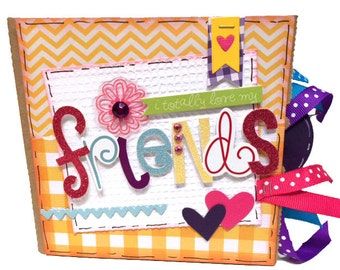 Friends Scrapbook - Friends Photo Album -  Best Friends Mini Scrapbook
