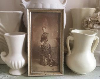 Victorian Era Framed Antique Photograph, European Woman, c. 1900