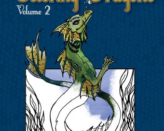 Coloring Dragons Volume 2 Adult Coloring Book Dragon Coloring Book by Nina Bolen PDF digital version