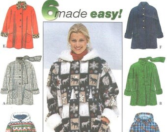 Simplicity 7803 Sewing Pattern, Misses Coat, A-Line Coat, Size XS S M, Six Style Variations, Hooded Coat, Sewing Supplies, Uncut Pattern