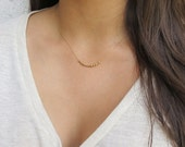 BLACK WEEKEND SALE Morse Code Necklace Hidden Message  Morse Code Love Jewelry  Bridesmaids Necklace Gold Filled Necklace