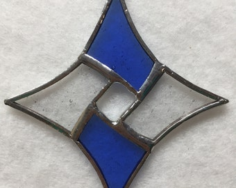 Stained Glass Ornament - Diamond