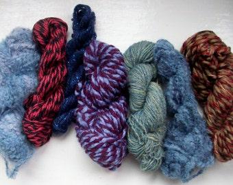 Grab bag assorted yarn 50g darker blue burgundy M0117-6