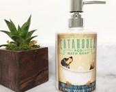 Catahoula Cur Leopard Dog bath soap Company vintage style ceramic soap dispenser