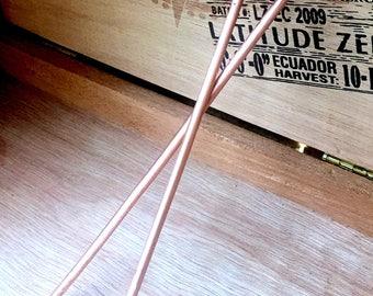 """7"""" Hammered Copper Hairsticks"""