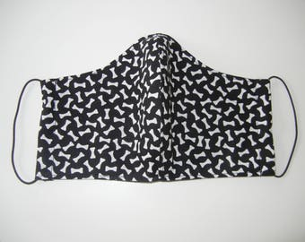Fabric Surgical Face Mask with Dog Bones