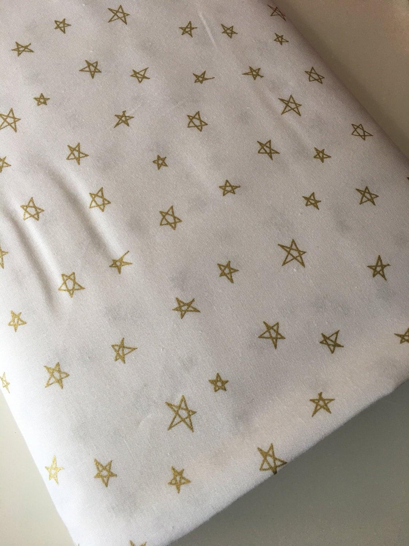 Gold nursery fabric gold wedding decor gold baby decor for Star fabric australia