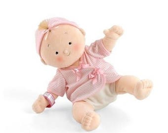 Clearance Sale, Baby Doll, Sibling Gift, Rag Doll, Shower Gift, Toddler Doll, Blonde Doll, Cloth Doll, Toy Doll, Safe Doll, Girl Doll,