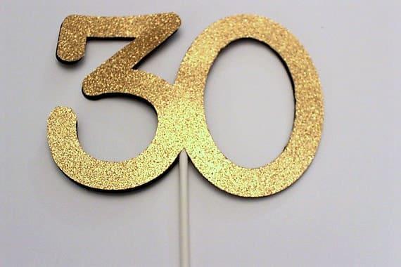30th Birthday Cake topper 30 Cake topper 30th Birthday