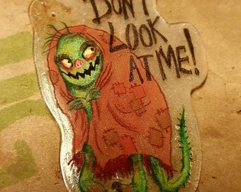 Dont Look at me Shrinky Dink Art
