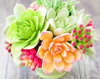 Clay Succulent Floral Arrangement