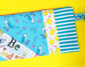 Be Kind -- Extra Large Zippered Pouch