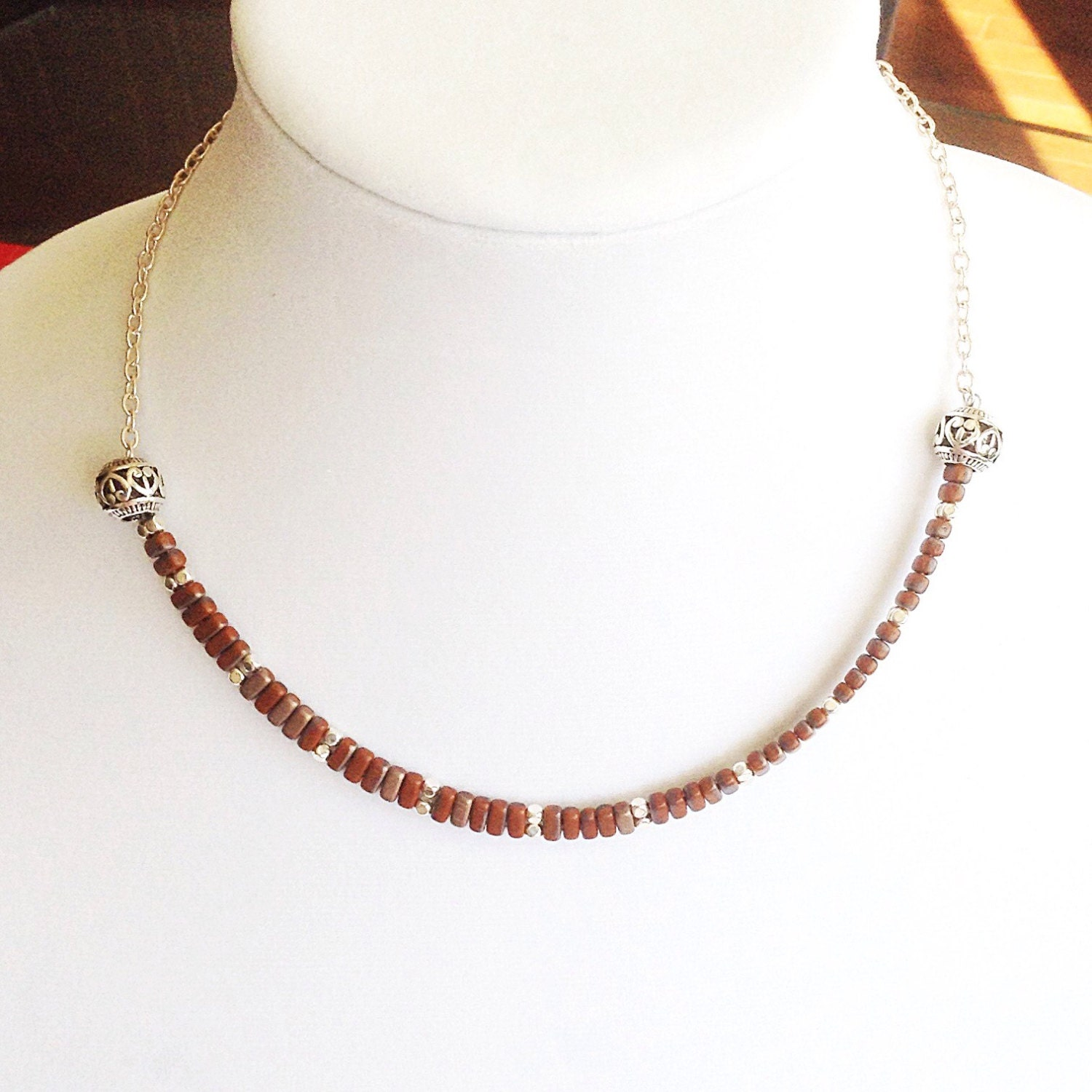 necklace choker necklace delicate necklace silver
