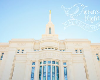 Payson Utah Temple - Digital Download - Cheerful and Bright Fine Art Photography
