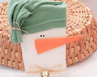 Snowman, Rustic Wooden Snowman, Christmas Snowman Decoration, Holiday Wooden Snowman