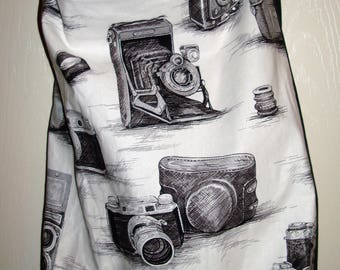 """Check out this great Camera Tote Bag pocket on the inside. Go to the Beach Golfing Mall Flea Market Spa! 17x16x4  14"""" strap drop MADE IN USA"""