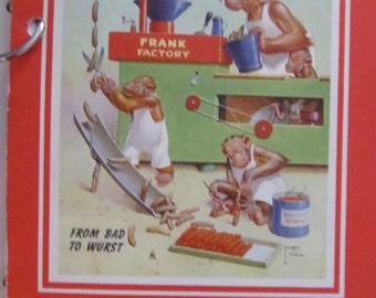 Sausage Recipes Including Scrapple, Salamis Butcher Shop Ephemera Lot of 4