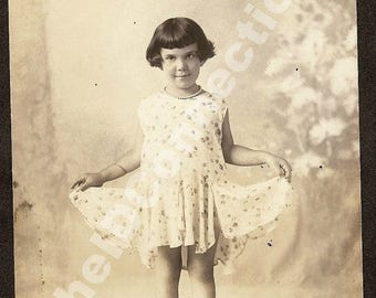 1930's Clara Cristelli, Bruno Cristelli's Sister,1931 retro 30's Texana Sister Daughter Galveston TX, Rosemarie Cristelli