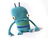 """Plush Stuffed Monster """"Paul"""" Little Cotton Monster"""