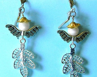 Fairy handcrafted woodland earrings