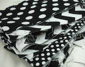 The Black Mixed Geometrics Riley Blake Destash Fabric Bag