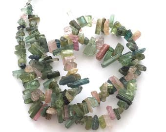 "Tourmaline crystal beads 5-11mm, 4""strand"