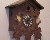 VINTAGE COO-COO Clock~What you c is what you Get~No works inside~Just house & Most leaves~Recycle~Repurpose~Art Assemblage~Salvage Artistry