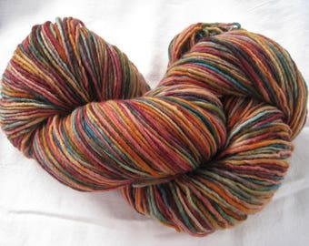"PLAIN & FANCY Hand Dyed Fine Wool Yarn ""Autumn Leaves"""