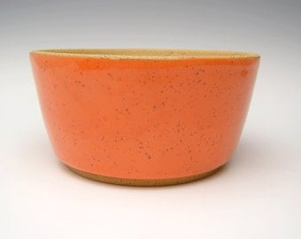 Contemporary ceramic planterSucculent pot Modern Planter Stoneware planter pottery Bonsai planter orange pot 6 3/4 x 3 1/4  w7
